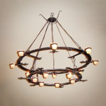 WroughtIron chandelier