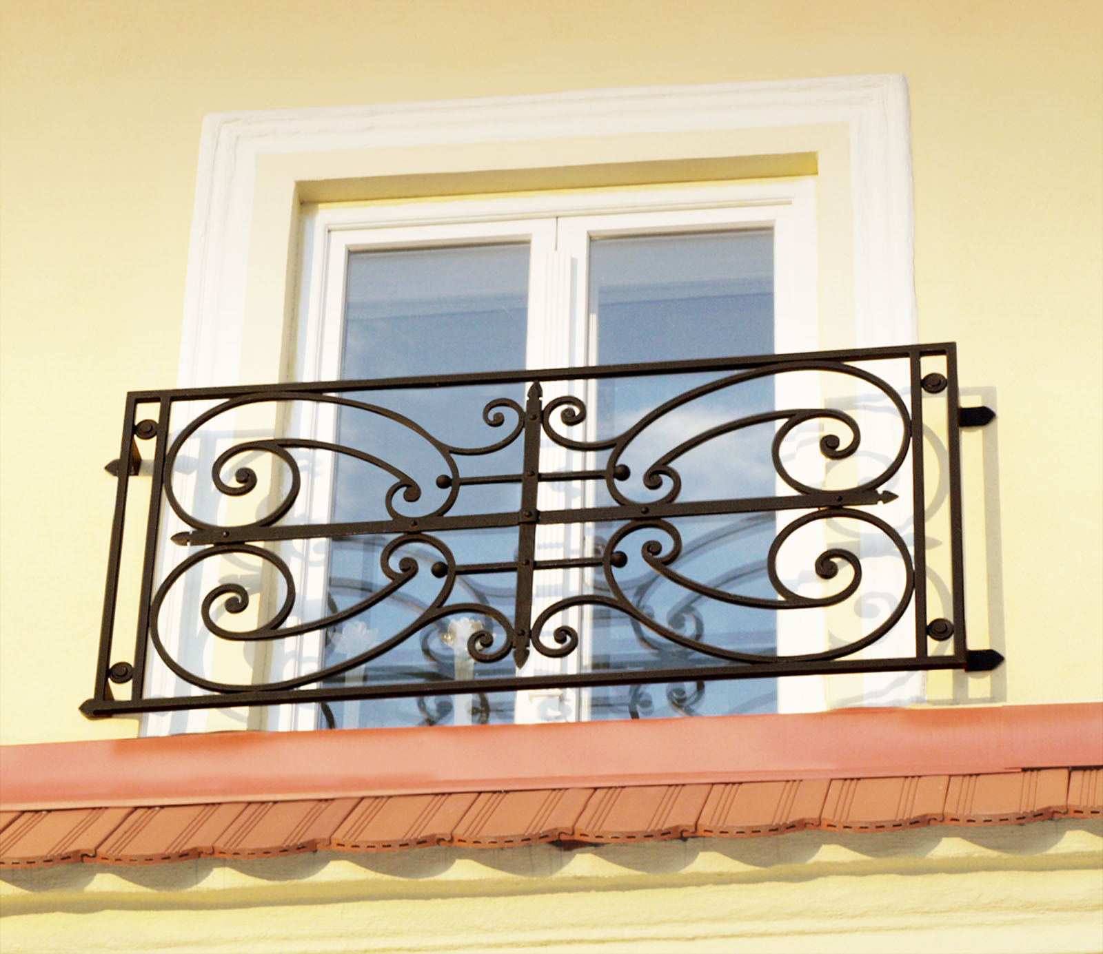 Wrought iron window grill | Leonard Metal Design