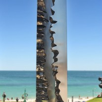 Border sculpture by Leonard Sabol
