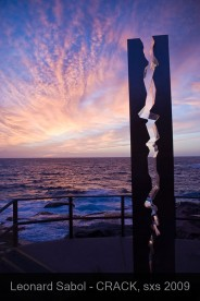 Crack sculpture by the Sea Bondi by Leonard Sabol