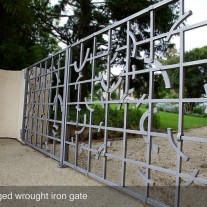 Forged wrought iron gate