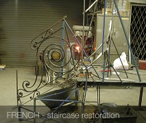 French staircase restoration