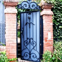 Metal design garden gate