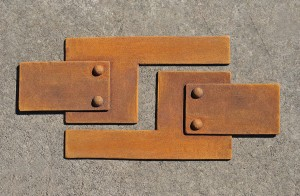 Rusted metal finish