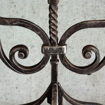 Wrought iron scroll