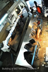 Stainless steel sculpture process