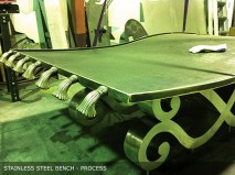 Stainless Steel Bench-process