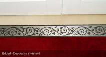 decorative metal threshold